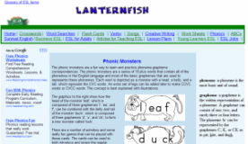 Lanternfish Phonics Monster
