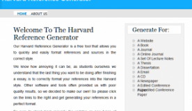 Harvard Reference Generator